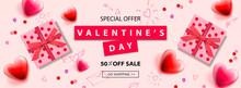 Valentines Day Sale Banner. Ba...