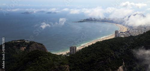 Photo Panoramic Aerial View of Copacabana Beach, Rio De Janeiro, Brazil landscape