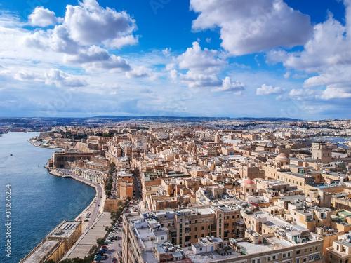 Beautiful architecture in Valletta, capital city of Malta