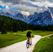 Tourist Cycling In Cortina D'A...