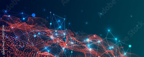 Photo Abstract plexus vector background
