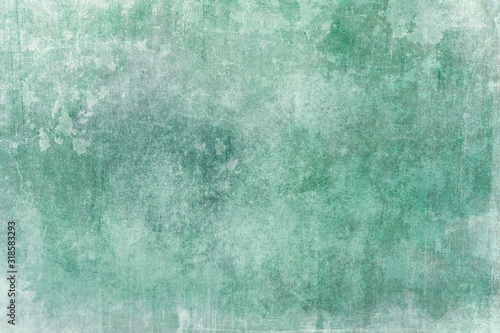 Obraz Old green wall grungy backdrop or texture - fototapety do salonu