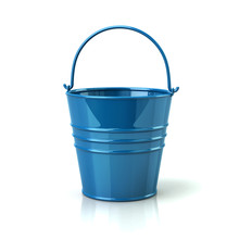 Blue Bucket With Handle 3d Ill...