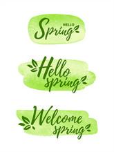 Hello, Welcome Spring Illustra...