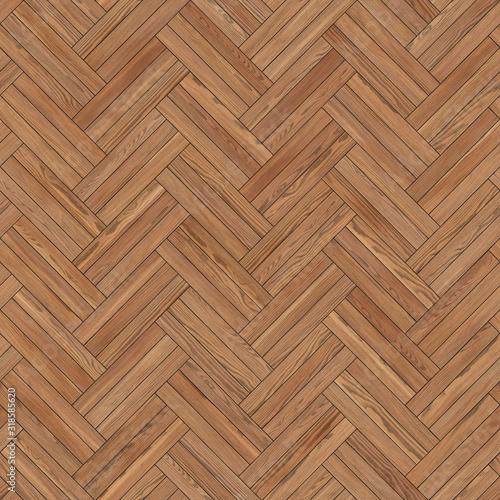 Fototapeta Seamless wood parquet texture herringbone light obraz na płótnie