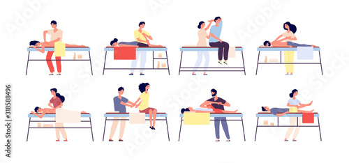 Massage therapy Canvas Print
