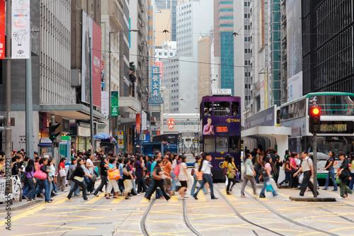 Obraz na płótnie People Walking On Road In City