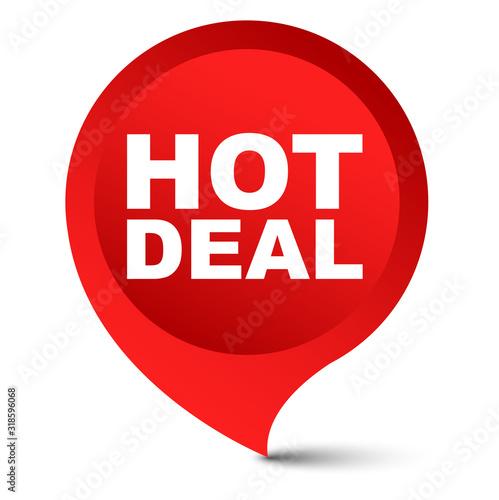 Fotografía red vector banner hot deal