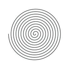 Editable Stroke Line Spiral Sh...