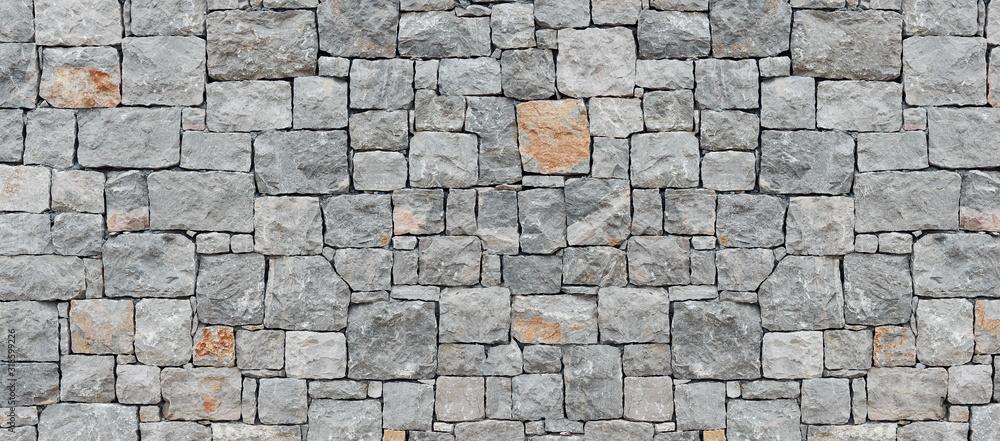 Fototapeta gray stone wall texture