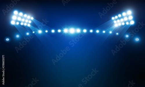 Photo Bright stadium arena lights vector design