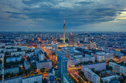 Berlin skyline in the night. Germany Wallpaper Mural