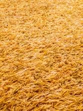 Golden Yellow Long Pile Shaggy Carpet