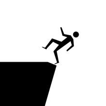 Fallling Off Cliff Danger Imag...