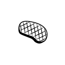Grill Meat Black Icon. Clipart...