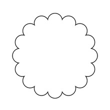Scalloped Circle Outline Shape...