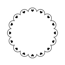 Scalloped Circle Frame With He...