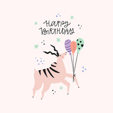 Antelope With Birthday Greetin...
