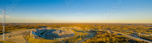 Valokuvatapetti Kentucky Speedway aerial wide angle panoramic photo
