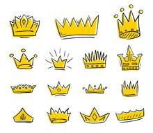 Hand Drawn Golden Crowns Draft...
