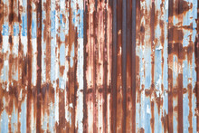 Full Frame Shot Of Rusty Corrugated Iron