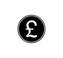 Pound Sterling Icon. Vector Il...