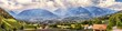 canvas print picture - Panoramic view on Merano in South Tyrol, Italy