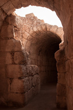 Old Roman Ruins In Israel With...