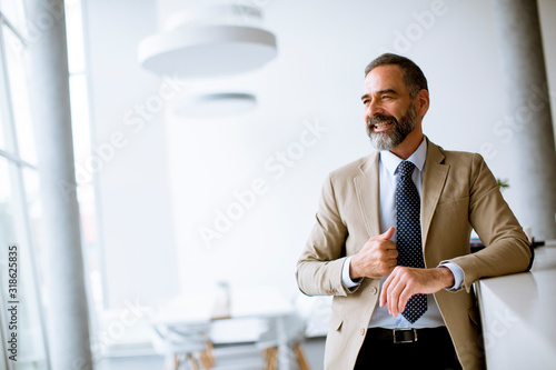 Portrait of senior businessman in the office Canvas Print
