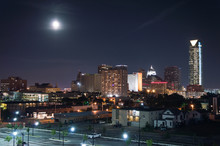 Oklahoma City,  Downtown Skyline At Night. Oklahoma, USA.
