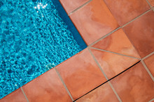Swimming Pool Border And Tiled...