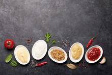 Set Of Various Sauces. Popular...
