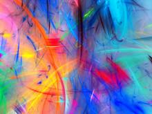 Rainbow Abstract Fractal Backg...