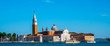 View from the square San Marco to the grand canal in Venice, Italy. Architecture and landmark of Venice. Vacation and holidays in Italy and Europe concept.