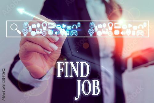 Fotografie, Obraz Word writing text Find Job
