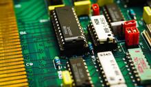 Closeup On Electronic Board An...