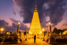 Pagoda At Phrathat Nong Bua Temple In Ubonratchatani.Thailand