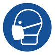 Leinwandbild Motiv Safety wear mask sign