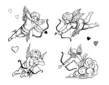 Cupid Sketch. Vector Illustrat...