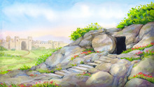 Open Empty Tomb. Watercolor Pa...