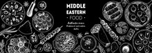 Arabic Food Top View Frame. Fo...