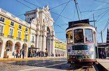 The Rua Augusta Arch In Lisbon...