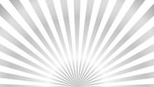 Sun Rays Background. Gray Radi...