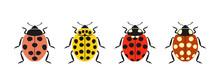 Ladybug Logo. Isolated Ladybug On White Background