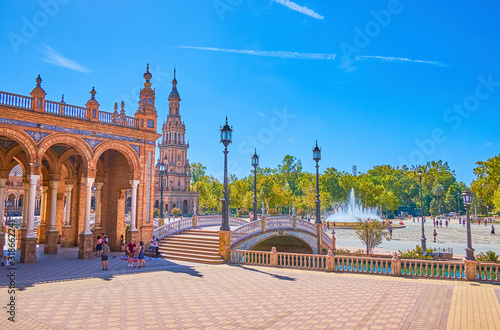 Fototapeta The main tourist attraction of Seville, Spain