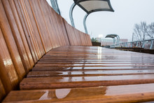 Outdoor Wooden Bench Seating. ...