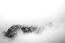 Black And White Mountains Unde...