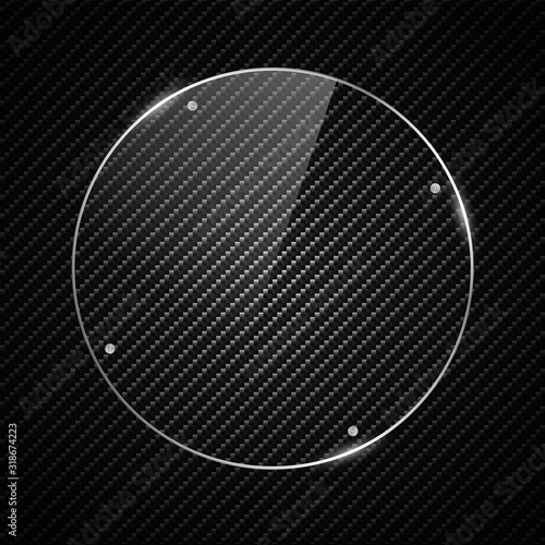Cuadros en Lienzo Glass plate on transparent background