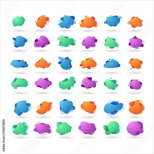 Fototapeta set of abstract liquid background logo design vector for sale banner obraz na płótnie