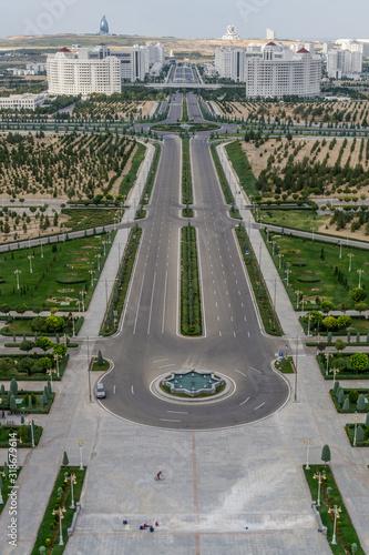 Photo Outskirts of Ashgabat, Turkmenistan shot from the Bitaraplyk Binasy